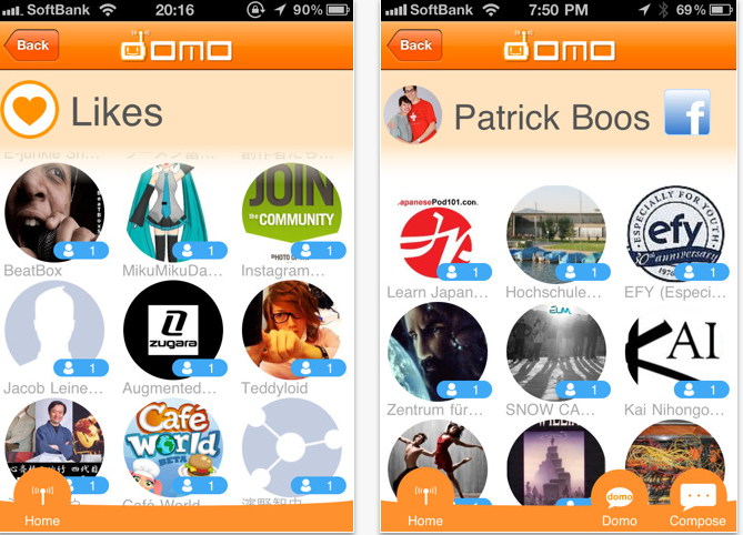 Domo – Social Networking iPhone App