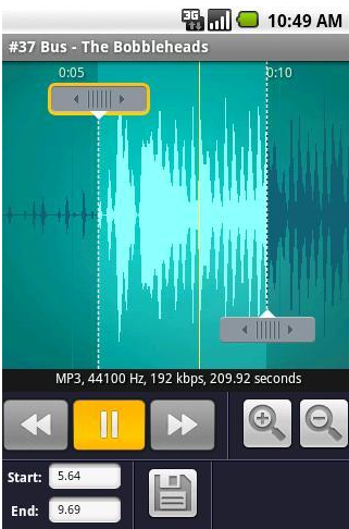 Ringdroid – Android App To Create Ringtones