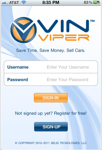 VIN Viper – iPhone App For Automobile Professionals