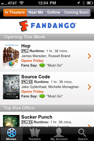Fandango – Better guide for movies