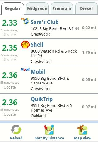 GasBuddy – Browse for Cheap Gas on Android