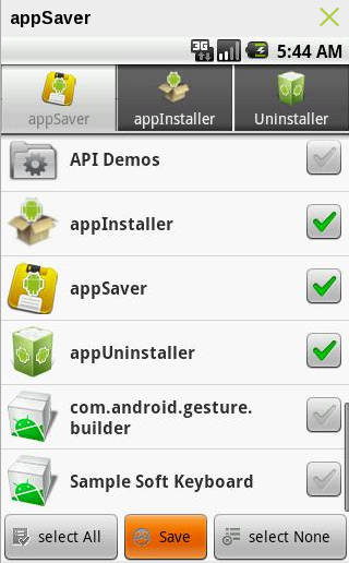AppSaver – Save Apps to SD Card