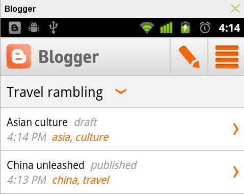 Blogger- Android App for Blogging