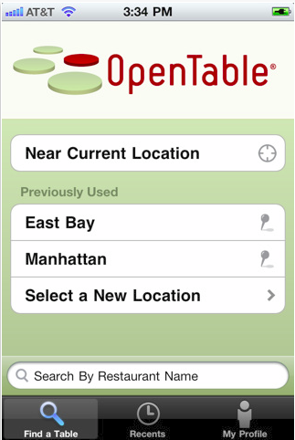 OpenTable iphone App Review
