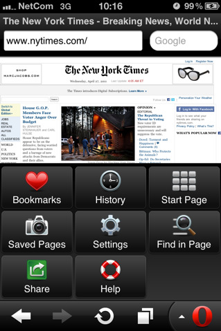 Opera Mini for iphone-ipad-ipod Touch