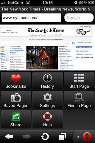 Opera Mini for iphone-ipad-ipod Touch