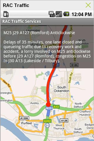 RAC Traffic – Traffic Finding Android App