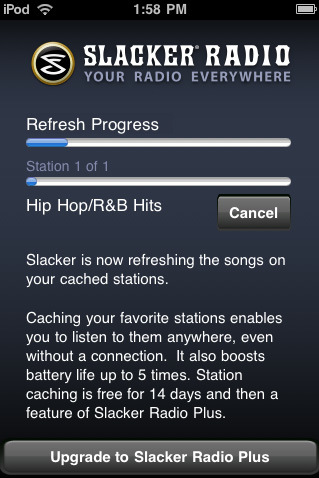 Slacker Radio – Your Own Radio on iphone