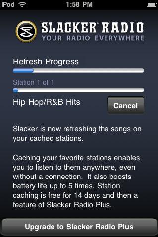 Slacker Radio – Your Own Radio on iphone