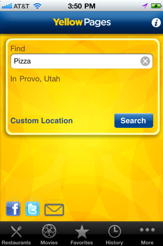 Yellow Pages iphone App Review