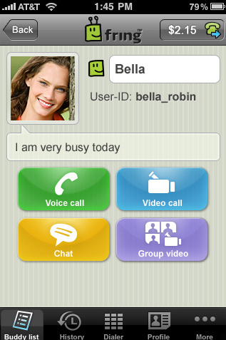 Fring- iPhone Instant Messaging