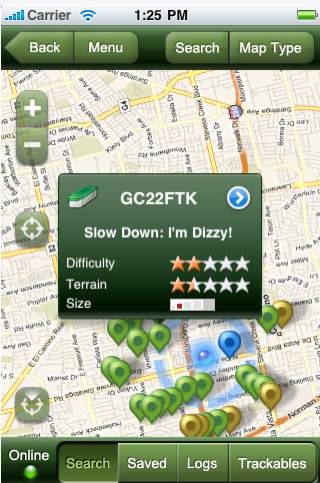 Geocaching- iphone Treasure Hunt