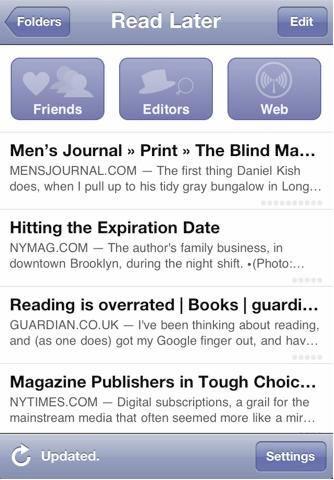 Instapaper Free – For Offline Reading