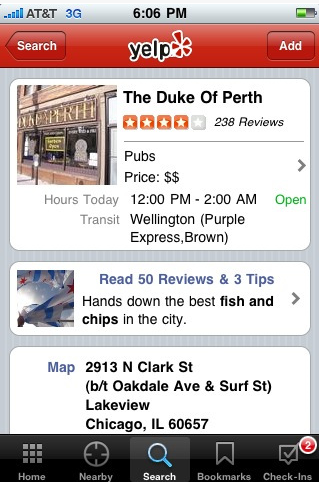 Yelp- Best iphone Guide Tool