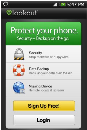 Lookout – Android Phone security App
