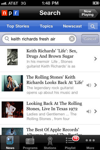 NPR – iPhone News App Review
