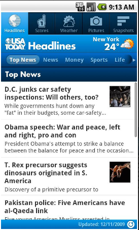 USA Today – Relax with Hot News