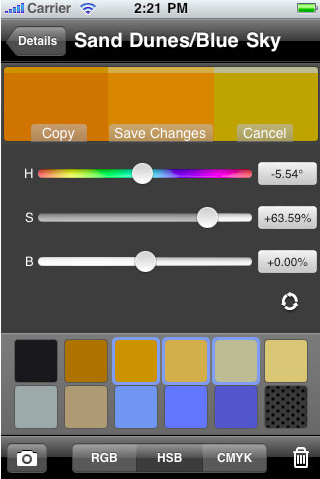 cliqcliq Colors – iPhone App for Color Selection