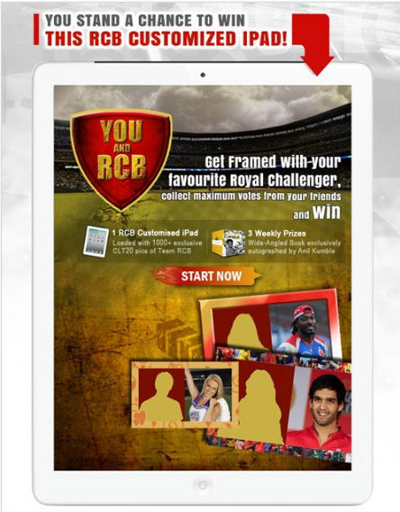 Win an iPad Free – Royal Challengers Bangalore