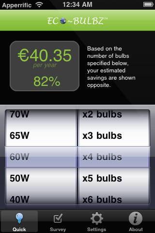 Eco-Bulbz | iOS App to Reduce Energy Consumption