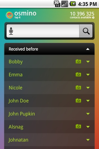 Osmino – Free Android App to Find Phone Book Contacts