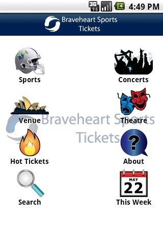 SportsTickets – Free Android App for Sports Ticket Booking
