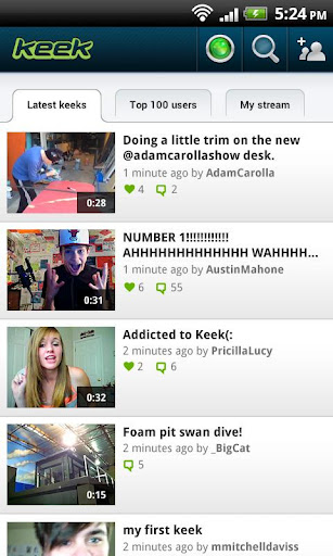 "Keek Android App – Keep On ""Keek""ing"
