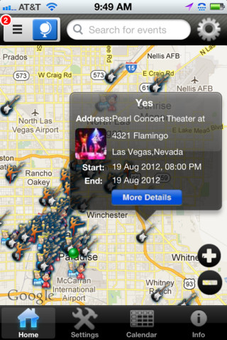 Eventsions – A Tracker for Concerts and More