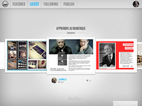 Tactilize – The iPad Content Network : Own Publish House