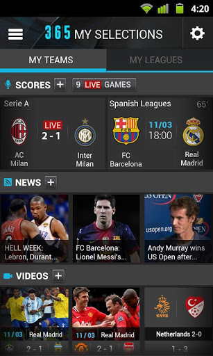 365Scores:Sport and News : Its Time to Update the Score