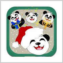 Give Your Messages An Extra Charm With Christmas, Hanukkah & New Year Panda Emoticons & Smileys + Emoji