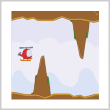 TINY HELICOPTER – LET'S FLY THROUGH FLYING MOUNTAINS!