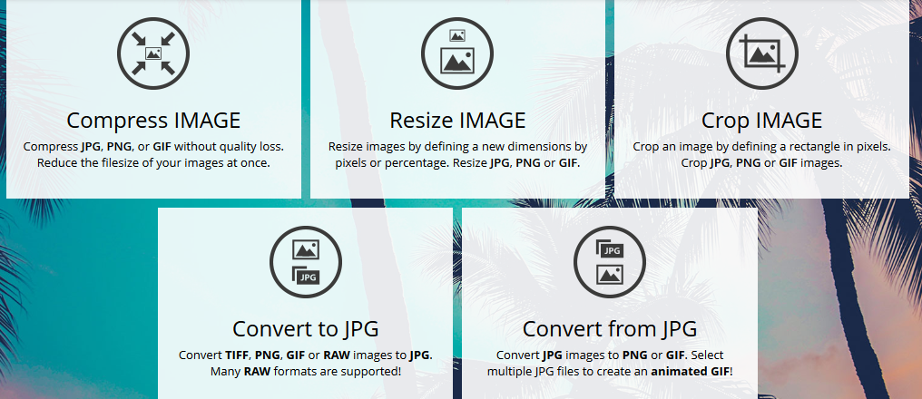 iLoveIMG – Complete Package of Image Process Tools