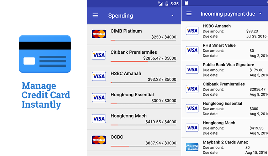 Manage Credit Card Instantly App; Take Total Control Of Credit Cards