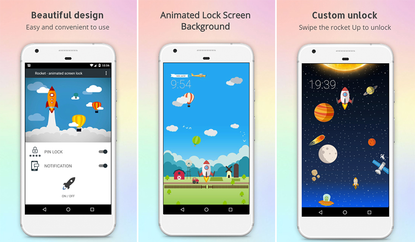 ROCKET- ANIMATED SCREEN LOCK- YOUR PERSONAL 'CABINET'