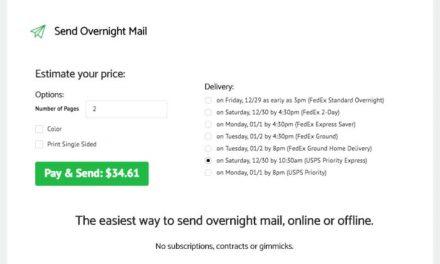 Sending Overnight Mail – WebApp Review