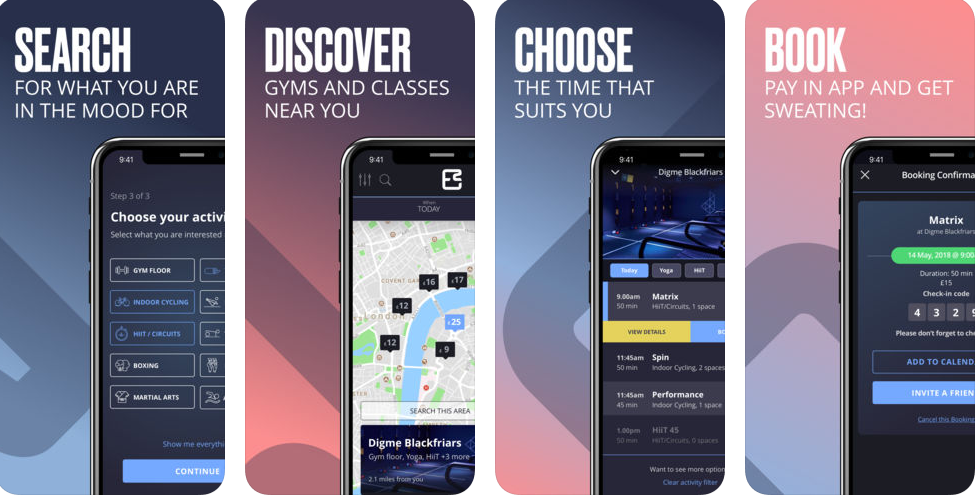 Esquared – Gyms & Studios : iPhone App Review