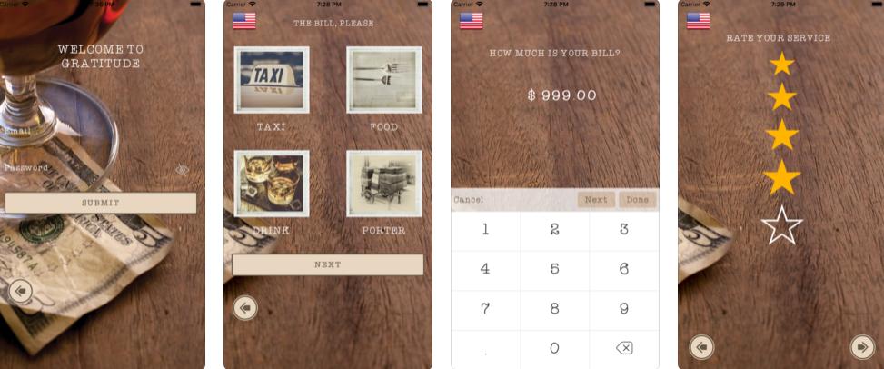 Gratitude Tipping – iOS App Review