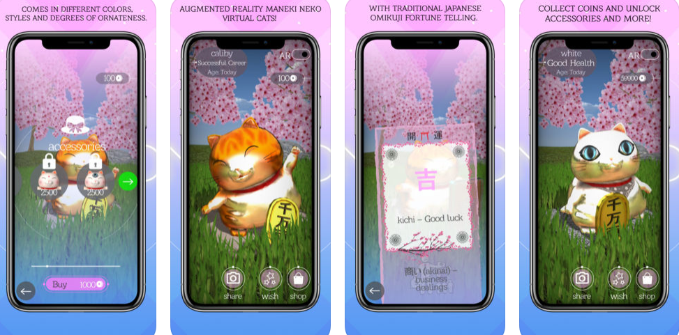 Get your fortune with AR Maneki Neko