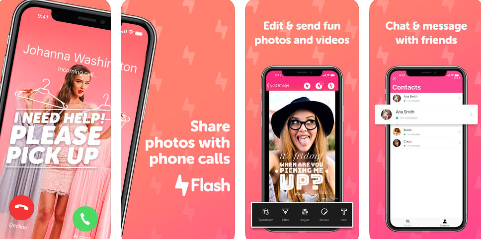 Flash – the fun way to let people know who's calling!