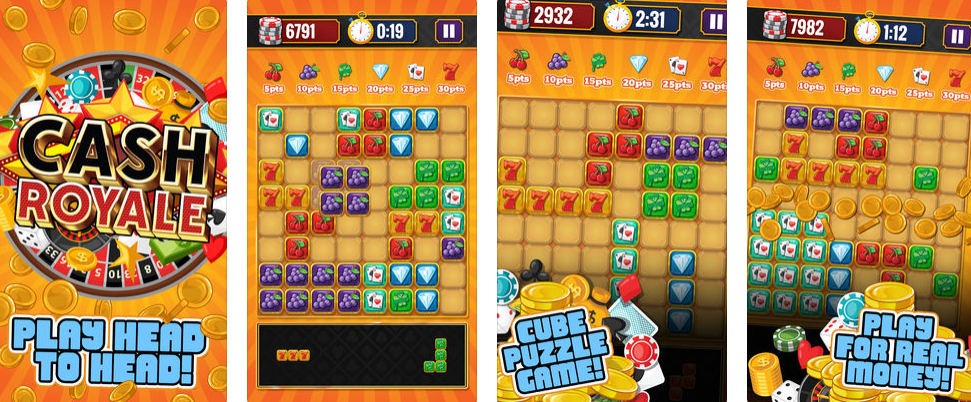 Cash Royale – Block Puzzle Game – The Vegas Style Puzzle Skills Game