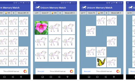 Unicorn Memory Match – Match Two Cards Of The Same Type