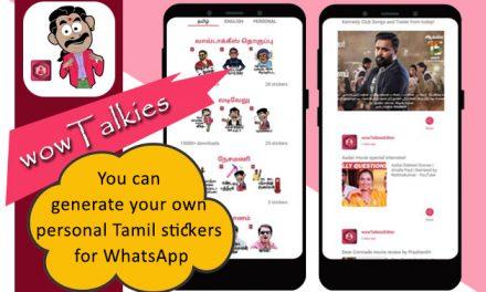 wowTalkies: Tamil stickers, personal sticker maker