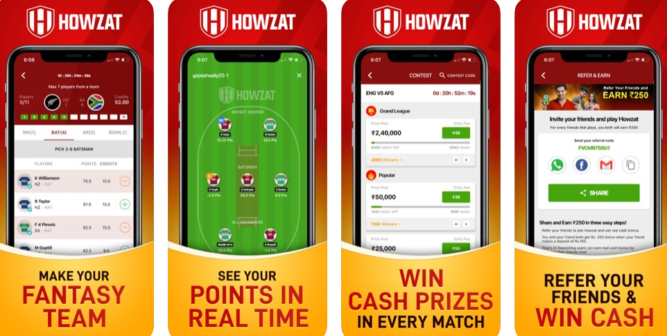 Love to Play Cash Games and Win Money? Choose Howzat