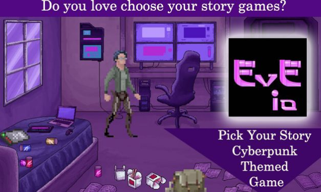 Eve_IO: Pick your story cyberpunk themed game