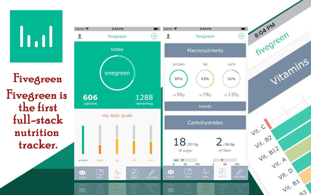 Fivegreen – Best-in-Class Diet Tracker and Food Recommender