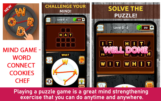 Mind Game – Word Connect Cookies Chef