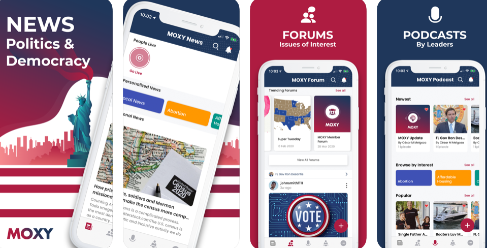 Inform yourself & engage in politics with nonpartisan platform MOXY