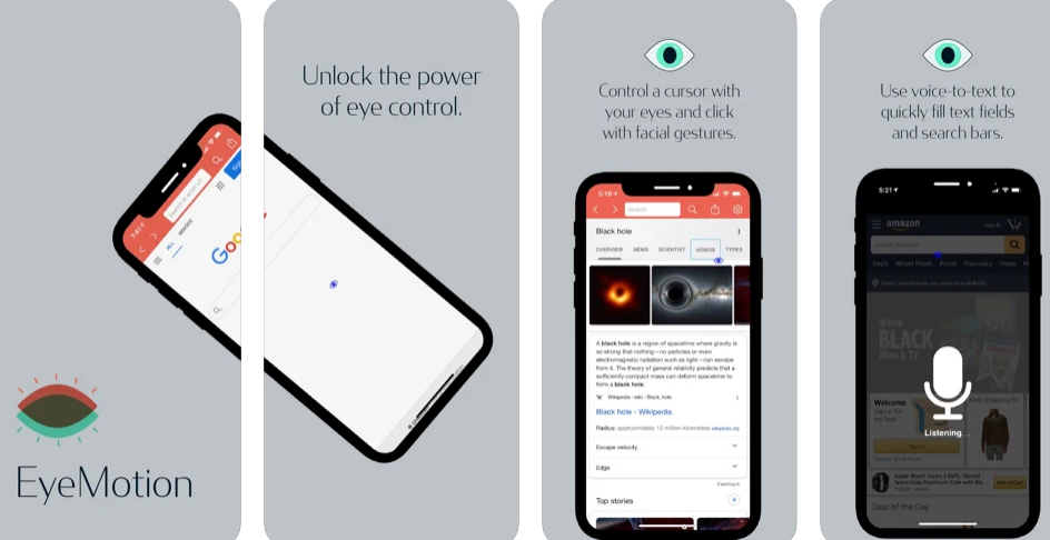 EyeMotion – Access the Browser with the Power of Your Eyes