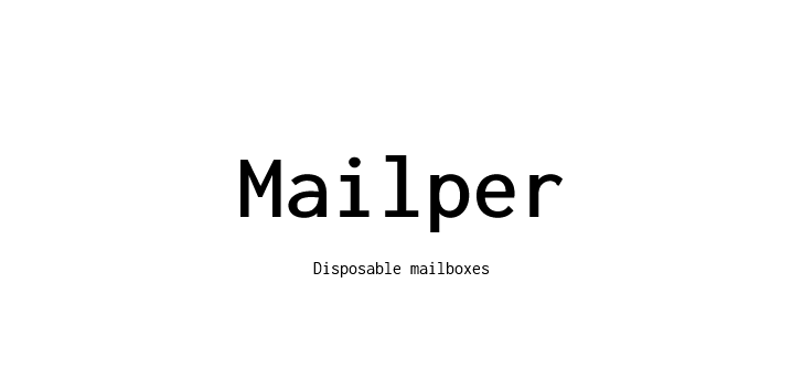 Make Your Disposable Email with Mailper.com